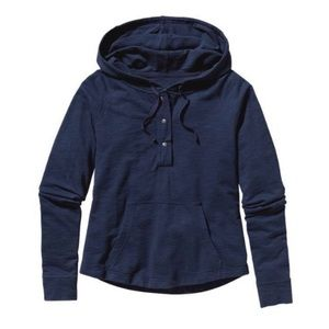 Patagonia Ahnya Common Threads Hooded Shirt Navy
